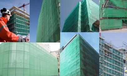 Фасадная сетка: разновидности, сферы использования.