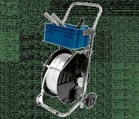 Лентразматыватель (диспенсер) для полипропиленовой ленты на колесах Н-83