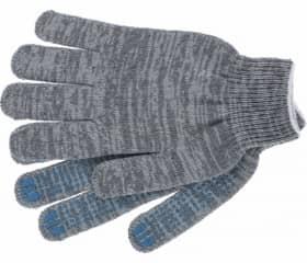 Перчатки хб с ПВХ Точка 7,5 класс 6 нитей серые