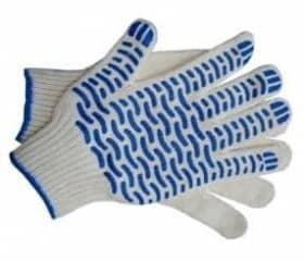 Перчатки хб с ПВХ Волна 7 класс 5 нитей