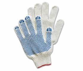 Перчатки хб с ПВХ Точка 10 класс 3 нити