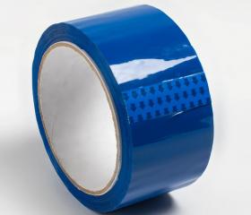 Скотч цветной синий 48 мм 50 м 45 мкм