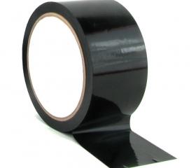 Скотч цветной черный 48 мм 50 м 45 мкм