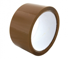 Клейкая лента упаковочная коричневая 48 мм 50 м 40 мкм