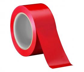 Скотч цветной красный 48 мм 50 м 45 мкм