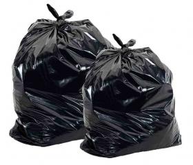 Мешки для мусора 240 л 90х130 см 40 мкм, черные, ПВД, 2 сорт