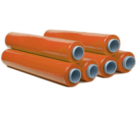 Стрейч пленка ручная 500 мм 17 мкм 2 кг оранжевая