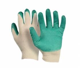 Перчатки хб с одинарным латексным покрытием Люкс
