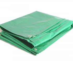 Тент Тарпаулин 10х10 120 г/м2 зеленый